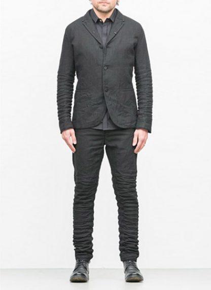 LAYER 0 men classic H blazer jacket 20 07 dark grey black linen plus hide m 3
