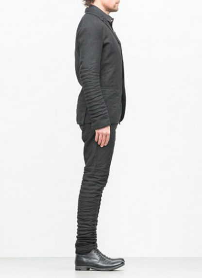 LAYER 0 men classic H blazer jacket 20 07 dark grey black linen plus hide m 4