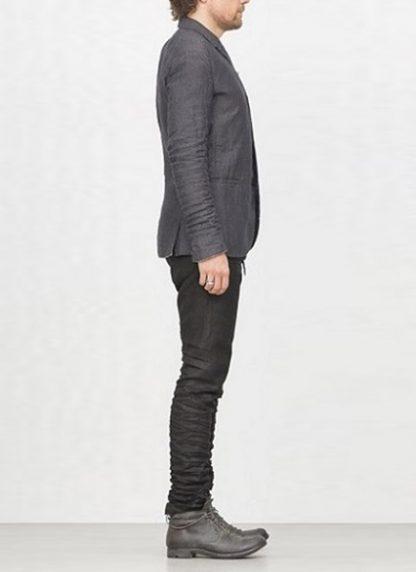 LAYER 0 men classic H blazer jacket dark grey linen FW1718 hide m 4
