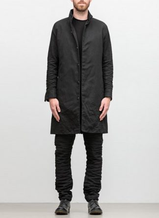 LAYER 0 men classic coat Mantel H trench 20 40 black cotton hide m 2