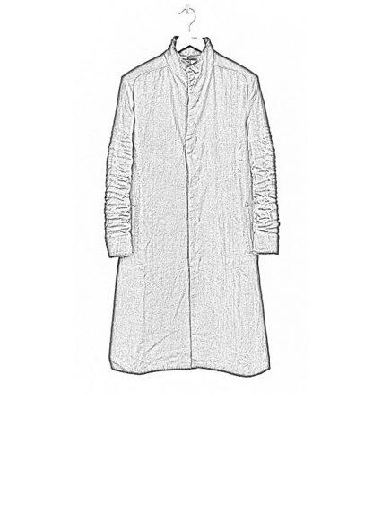 LAYER 0 men clothing H trench coat black linen SS17 hide m 1