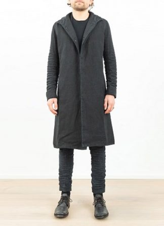 LAYER 0 men clothing H trench coat black linen SS17 hide m 2