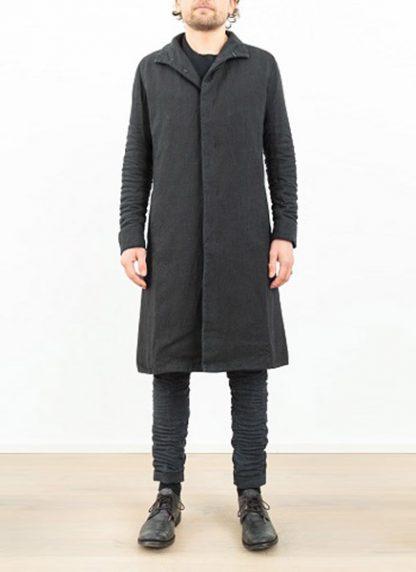 LAYER 0 men clothing H trench coat black linen SS17 hide m 3
