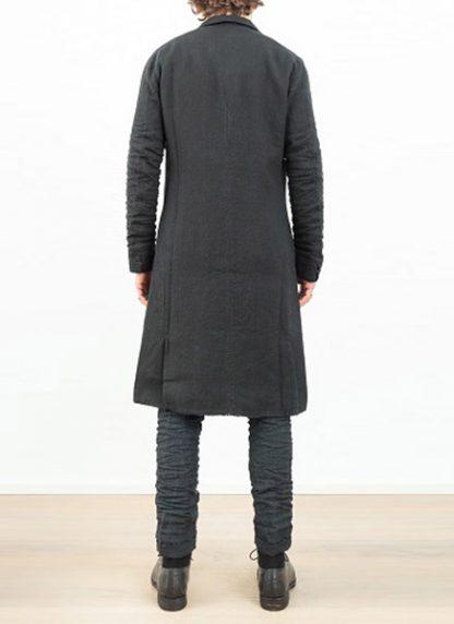 LAYER 0 men clothing H trench coat black linen SS17 hide m 5