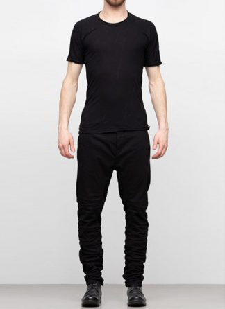 LAYER 0 men tshirt tee 22 07 cotton linen black hide m 2