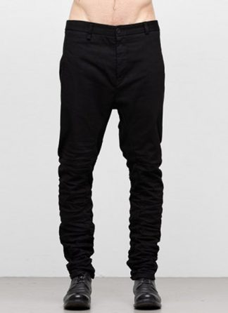 LAYER 0 men welt pocket pants 21 45 cotton jersey black hide m 2