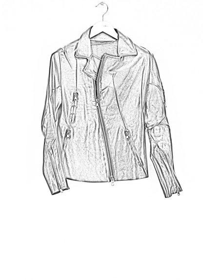 LEON EMANUEL BLANCK men distortion biker jacket herren jacke DIS BJ 01 horse leather black hide m 1
