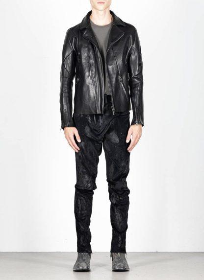 LEON EMANUEL BLANCK men distortion biker jacket herren jacke DIS BJ 01 horse leather black hide m 3