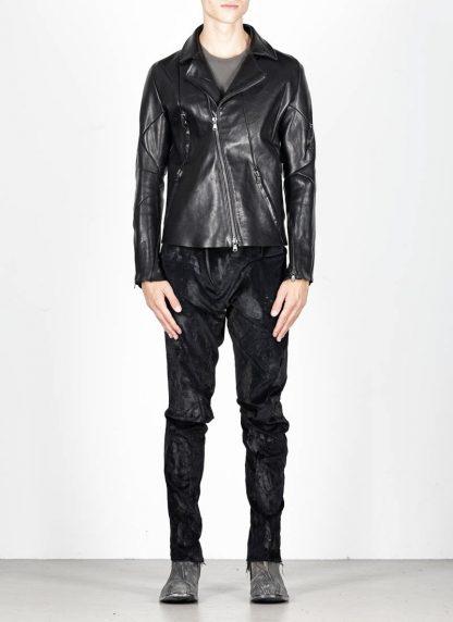 LEON EMANUEL BLANCK men distortion biker jacket herren jacke DIS BJ 01 horse leather black hide m 4
