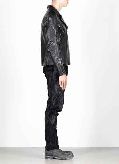 LEON EMANUEL BLANCK men distortion biker jacket herren jacke DIS BJ 01 horse leather black hide m 5