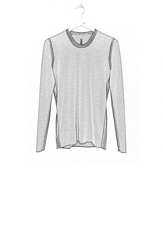 Label Under Construction DOUBLE LAYER PRINTED SWEATER CASHMERE SILK black grey hide m 1