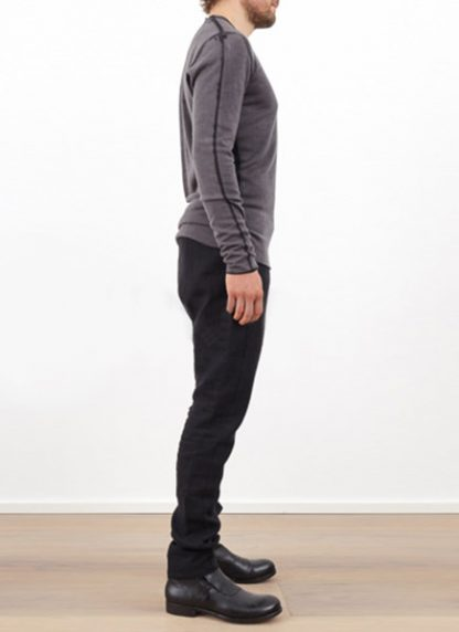 Label Under Construction DOUBLE LAYER PRINTED SWEATER CASHMERE SILK black grey hide m 5