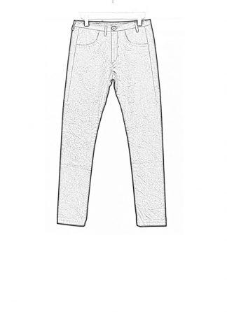 Label Under Construction FW18 men one cut pants cotton black hide m 1