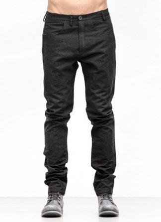 Label Under Construction FW18 men one cut pants cotton black hide m 2
