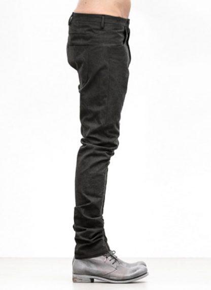 Label Under Construction FW18 men one cut pants cotton black hide m 3