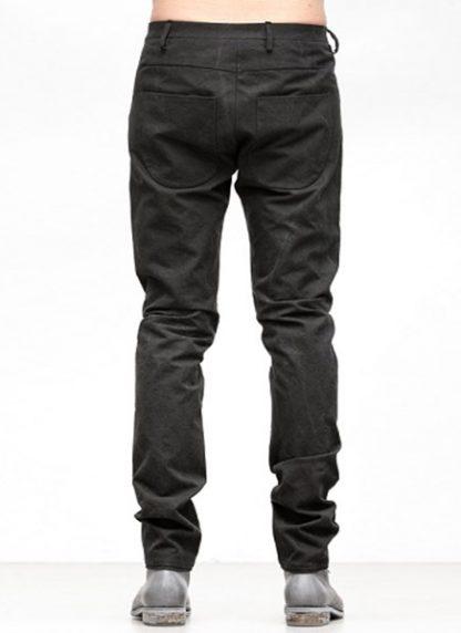 Label Under Construction FW18 men one cut pants cotton black hide m 4