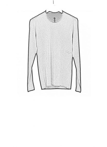 Label Under Construction FW18 men primary circle neck sweater cashmere black hide m 1