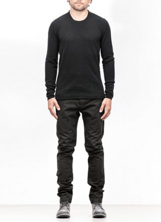 Label Under Construction FW18 men primary circle neck sweater cashmere black hide m 2