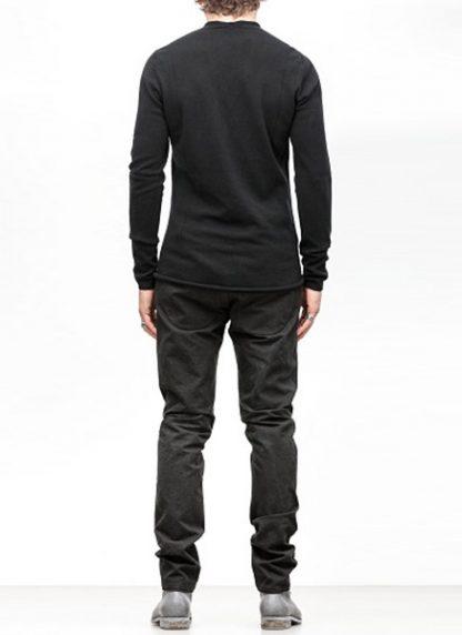 Label Under Construction FW18 men primary circle neck sweater cashmere black hide m 4