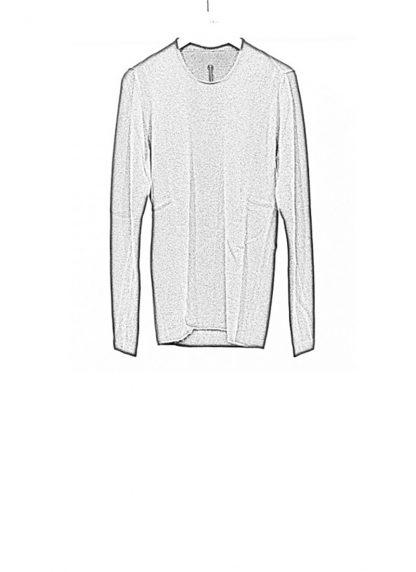 Label Under Construction FW18 men primary circle neck sweater wool dark grey hide m 1