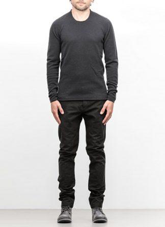 Label Under Construction FW18 men primary circle neck sweater wool dark grey hide m 2