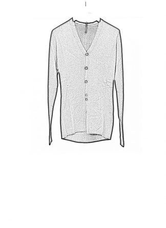 Label Under Construction FW18 men primary slash neck cardigan wool black hide m 1