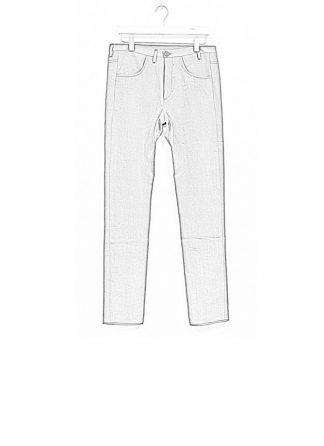 Label Under Construction SS19 men curved inseam jeans pants ramie grey hide m 1