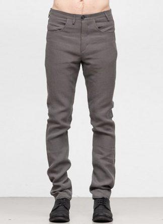 Label Under Construction SS19 men curved inseam jeans pants ramie grey hide m 2
