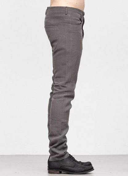 Label Under Construction SS19 men curved inseam jeans pants ramie grey hide m 3