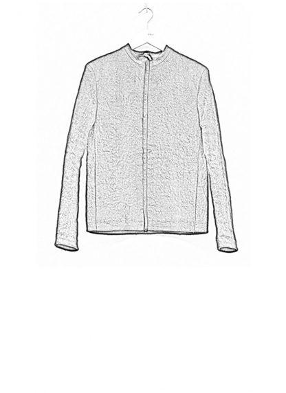 Label Under Construction SS19 men short jacket linen black hide m 1
