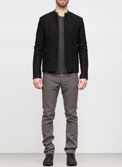 Label Under Construction SS19 men short jacket linen black hide m 2