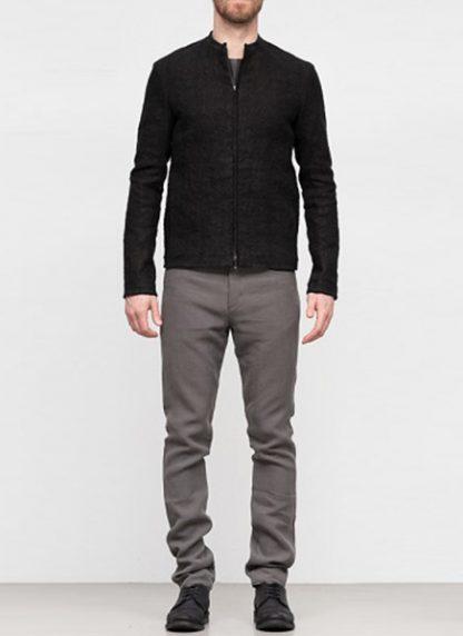 Label Under Construction SS19 men short jacket linen black hide m 3