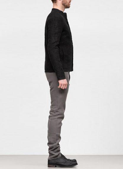 Label Under Construction SS19 men short jacket linen black hide m 4