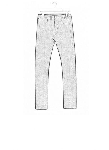 Label Under Construction men pants side selvedge jeans SS18 black linen hide m 1