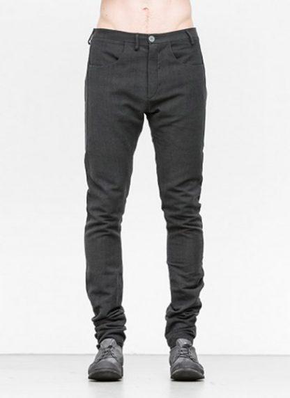Label Under Construction men pants side selvedge jeans SS18 black linen hide m 2