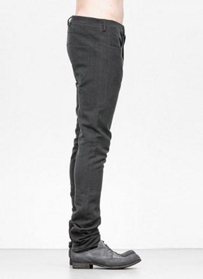 Label Under Construction men pants side selvedge jeans SS18 black linen hide m 3