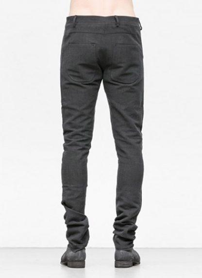 Label Under Construction men pants side selvedge jeans SS18 black linen hide m 4