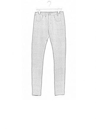 Label Under Construction men pants side selvedge jeans SS18 grey linen hide m 1