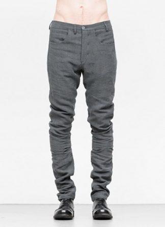 Label Under Construction men pants side selvedge jeans SS18 grey linen hide m 2