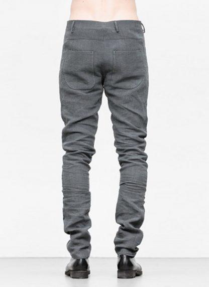Label Under Construction men pants side selvedge jeans SS18 grey linen hide m 4