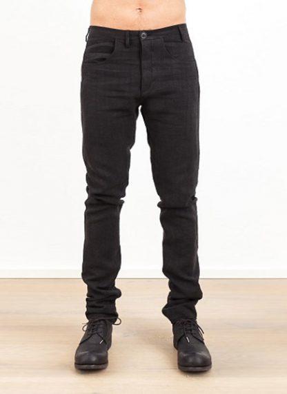Label Under Construction one cut pants black linen ss17 hide m 2