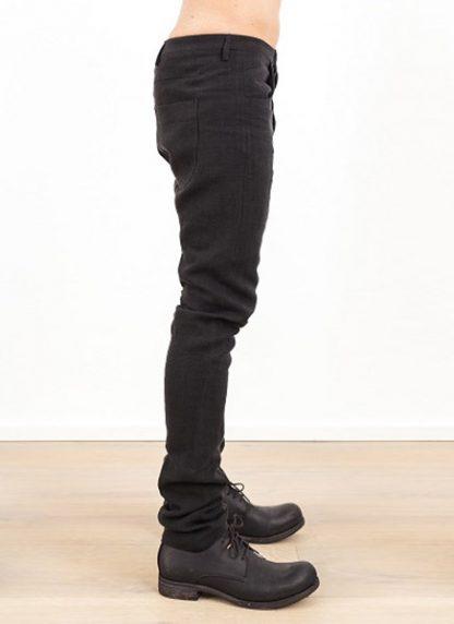 Label Under Construction one cut pants black linen ss17 hide m 3