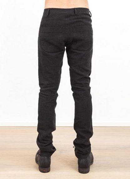 Label Under Construction one cut pants black linen ss17 hide m 4