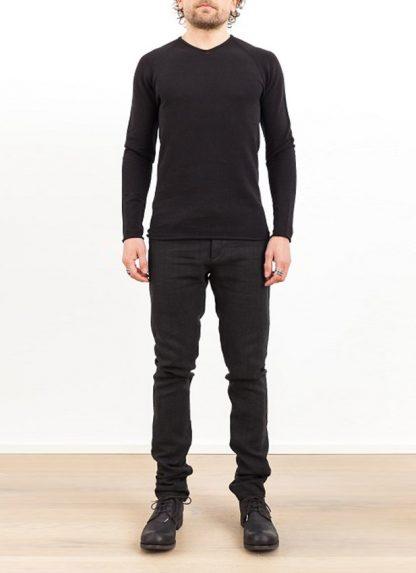 Label Under Construction zip seam seismograph sweater black cotton linen ss17 hide m 2