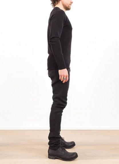 Label Under Construction zip seam seismograph sweater black cotton linen ss17 hide m 3
