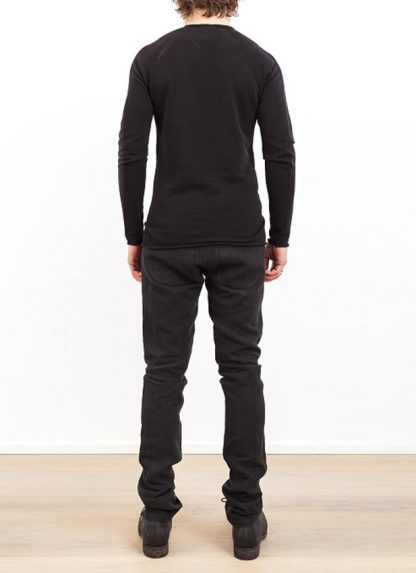 Label Under Construction zip seam seismograph sweater black cotton linen ss17 hide m 4