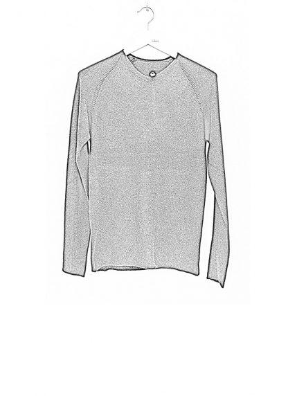 Label Under Construction zipped seams yardstick sweater FW1617 cashmere silk black hide m 1