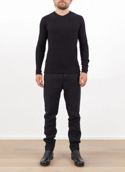 Label Under Construction zipped seams yardstick sweater FW1617 cashmere silk black hide m 2