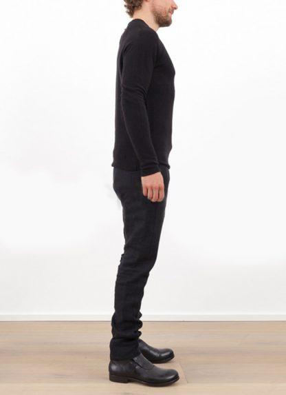 Label Under Construction zipped seams yardstick sweater FW1617 cashmere silk black hide m 3