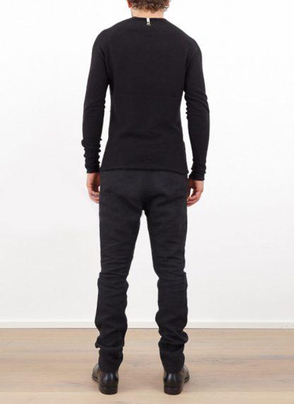 Label Under Construction zipped seams yardstick sweater FW1617 cashmere silk black hide m 4